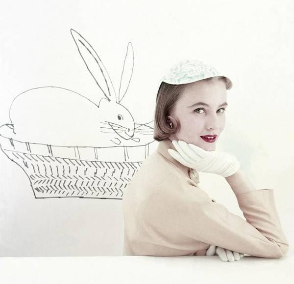 Jockey Photograph - Model In A Jockey Cap And Linen Jacket by Frances McLaughlin-Gill