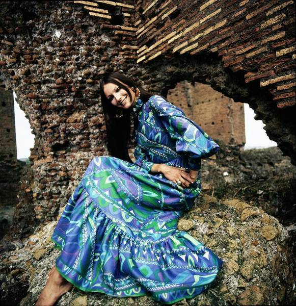 Wall Art - Photograph - Model In Emilio Pucci Dress by Henry Clarke