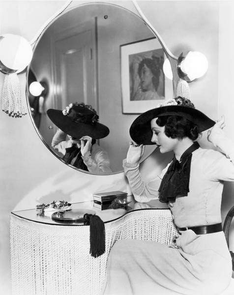 Photograph - Model In Front Of A Mirror by William A Fraker