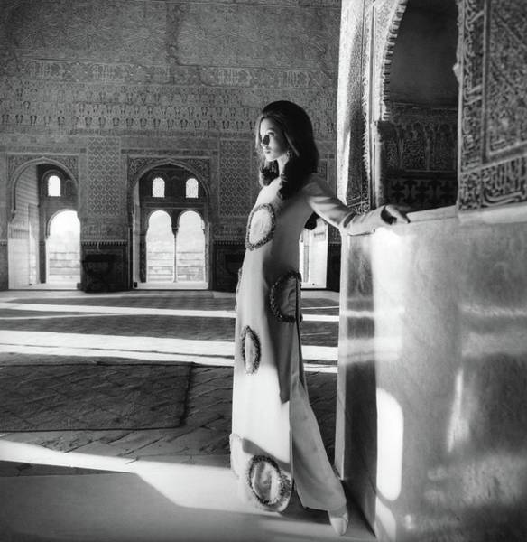 Photograph - Model In The El Mirador De Lindaraja by Henry Clarke