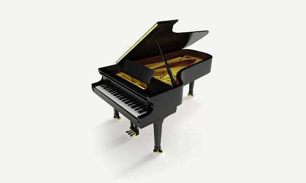 Grand Piano Photograph - Model Of A Grand Piano by Dorling Kindersley/uig