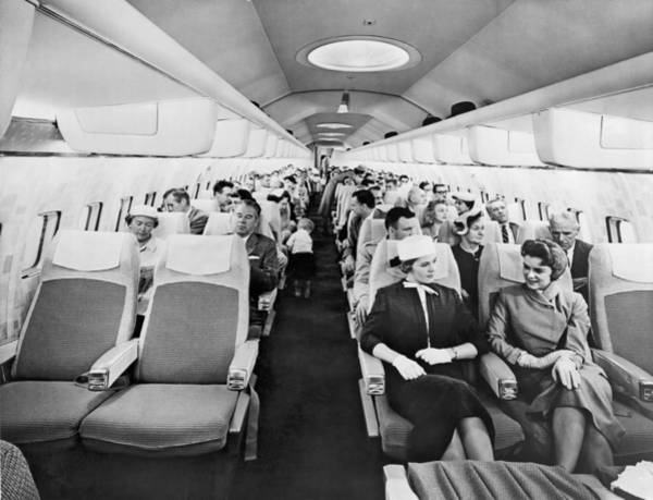 Wall Art - Photograph - Model Of Boeing 707 Cabin by Underwood Archives
