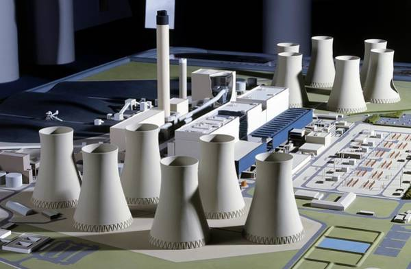 Fire Station Photograph - Model Of Coal-fired Power Station by Dorling Kindersley/uig