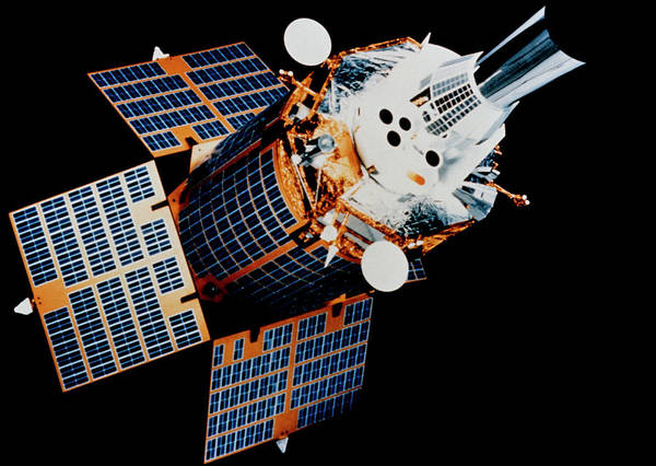 Support Photograph - Model Of Dsp Satellite Launched By Sts-44 by Nasa/science Photo Library