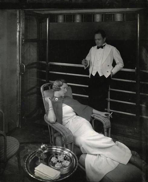 Relaxation Photograph - Model On Deck Of The Lurline by Edward Steichen