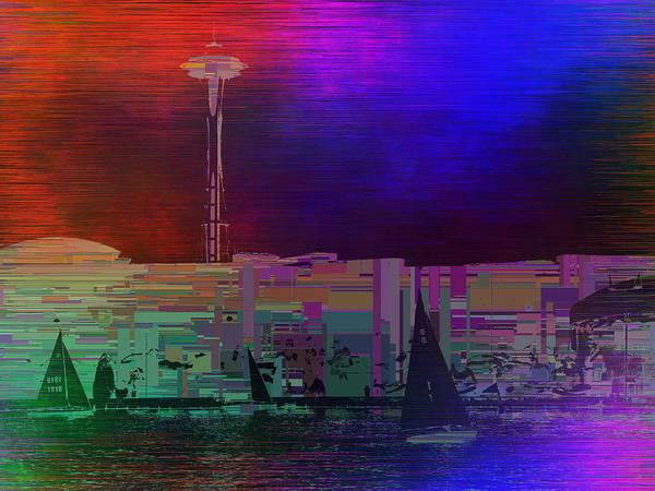 Wall Art - Digital Art - Model Sailboats Cubed 1 by Tim Allen