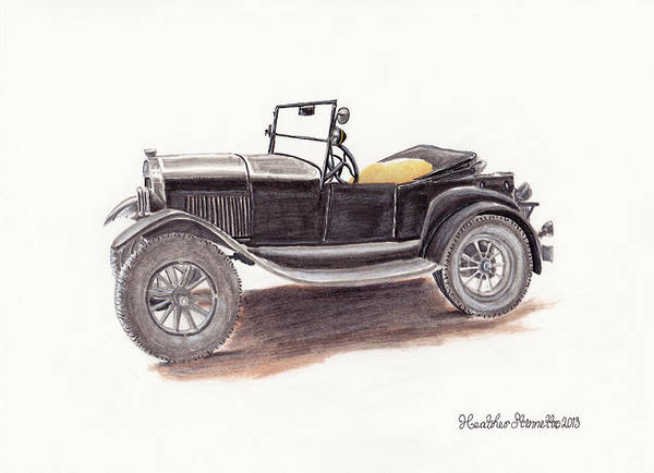 Wall Art - Drawing - Model T.  by Heather Stinnett