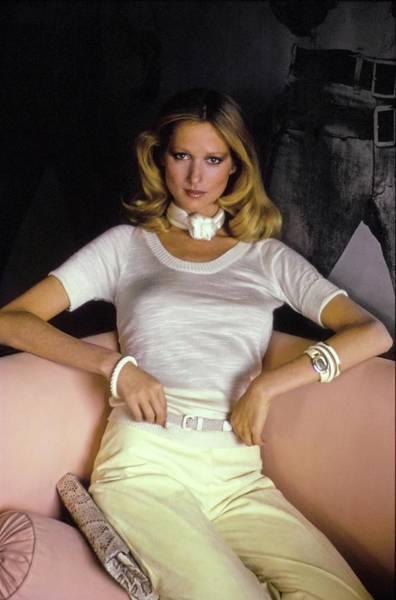 Wall Art - Photograph - Model Wearing A Blassport Top by Arthur Elgort