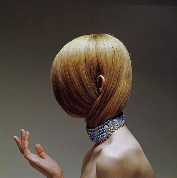 Wall Art - Photograph - Model Wearing A Cartier Necklace by Bert Stern