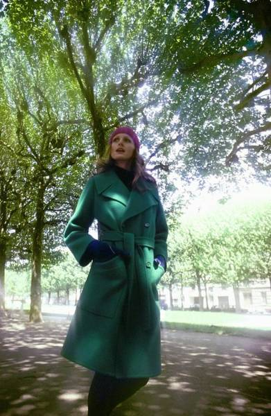 Wall Art - Photograph - Model Wearing A Dior Boutique Coat by Arnaud de Rosnay