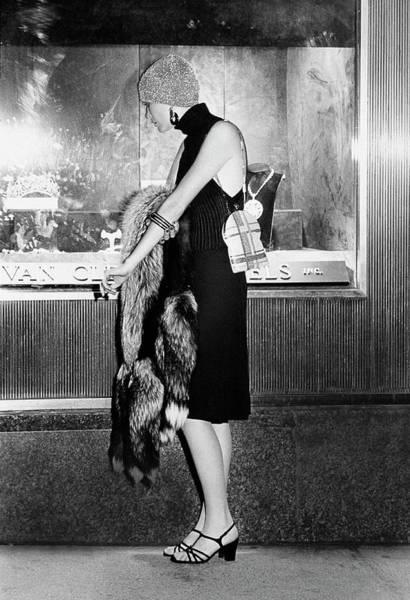 Window Display Photograph - Model Wearing A Donald Brooks Boutique Dress by Kourken Pakchanian