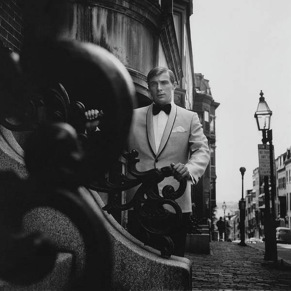 Photograph - Model Wearing A Formal Craft Suit by Leonard Nones