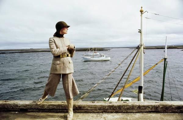 Photograph - Model Wearing A Herringbone Suit by John Cowan