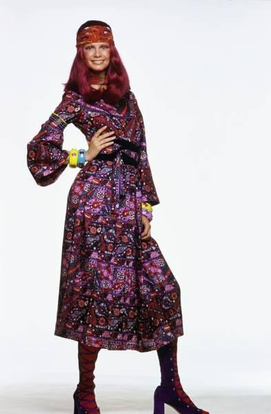 Wall Art - Photograph - Model Wearing A Jacques Tiffeau Dress by Gianni Penati