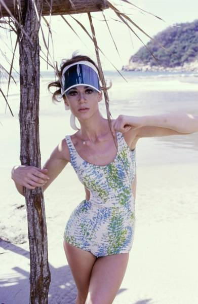 Swimsuit Photograph - Model Wearing A Jantzen Swimsuit In Acapulco by George Barkentin