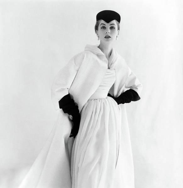 Lanvin Photograph - Model Wearing A Lanvin-castillo Dress by Henry Clarke