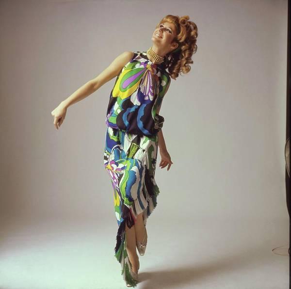 Wall Art - Photograph - Model Wearing A Lanvin Ensemble by Bert Stern