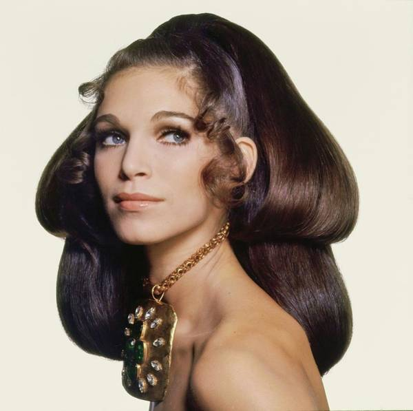 Max Factor Photograph - Model Wearing A Madame Gres Necklace by Bert Stern