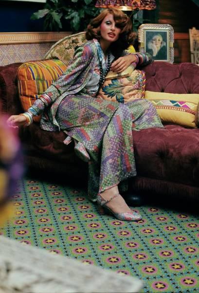 Woo Photograph - Model Wearing A Missoni Suit by Kourken Pakchanian