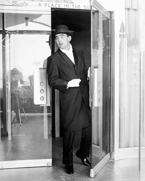 Photograph - Model Wearing A Mohair Coat by Richard Waite