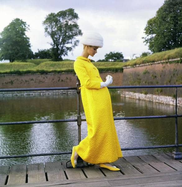 Official Residence Photograph - Model Wearing A Mollie Parnis Coat by Horst P. Horst
