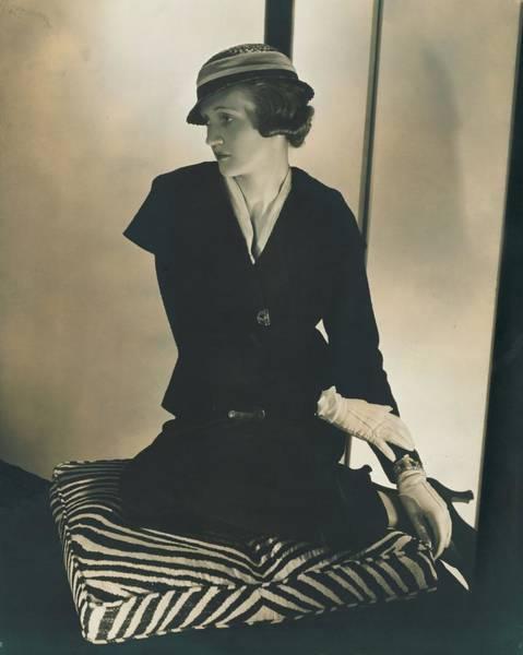 Schiaparelli Photograph - Model Wearing A Schiaparelli Suit by Edward Steichen