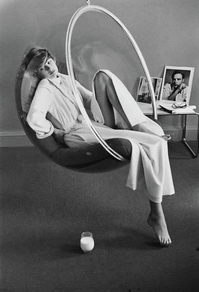 Dressing Photograph - Model Wearing A Stella Fagin Dressing Gown by Kourken Pakchanian