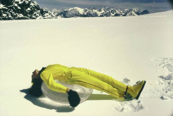 Central Europe Photograph - Model Wearing A Yellow Jump Suit by Arnaud de Rosnay