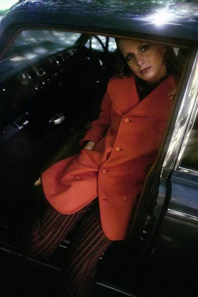 Auto Photograph - Model Wearing An Emanuel Ungaro Ensemble by Arnaud de Rosnay