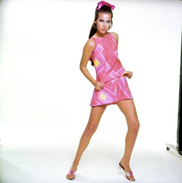 Wall Art - Photograph - Model Wearing Annemarie Gardin by Bert Stern
