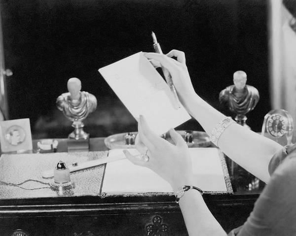 Wall Art - Photograph - Model Wearing Cartier Jewelry by Edward Steichen