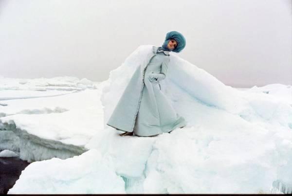 Wall Art - Photograph - Model Wearing Coat In Arctic Circle by John Cowan