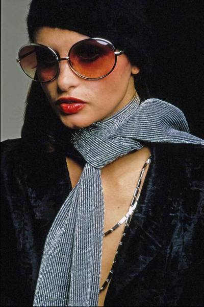 Max Factor Photograph - Model Wearing Riviera Sunglasses by Bob Stone
