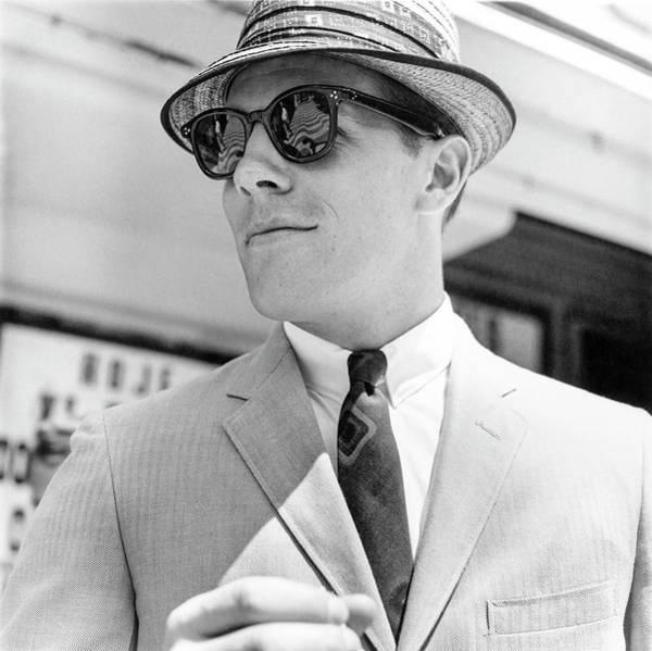 Photograph - Model Wearing Sunglasses by Richard Waite