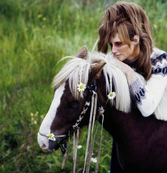 Wall Art - Photograph - Model With A Pony In Iceland by John Cowan