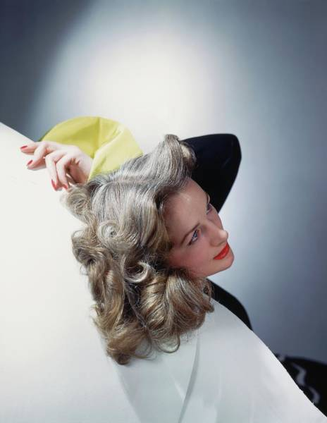Wall Art - Photograph - Model With Gray Hair by Horst P. Horst