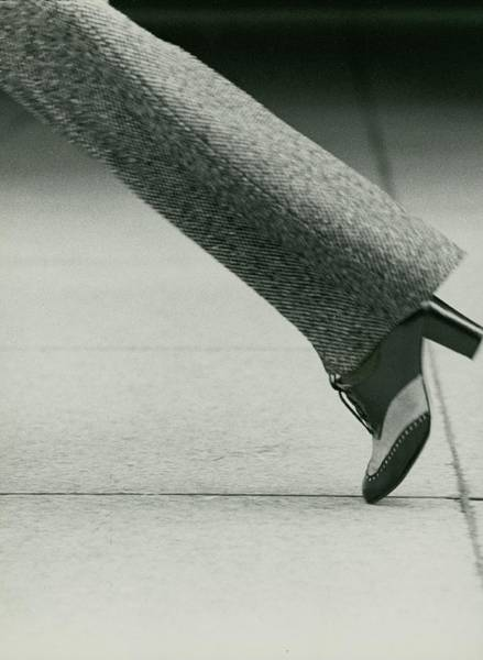Playing Photograph - Model's Foot Wearing David Evins Heels by Kourken Pakchanian