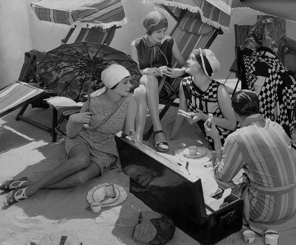 Outdoor Sports Photograph - Models Having A Picnic by Edward Steichen