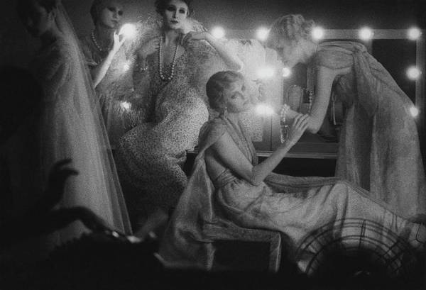 Mirror Photograph - Models In A Dressing Room by Sarah Moon