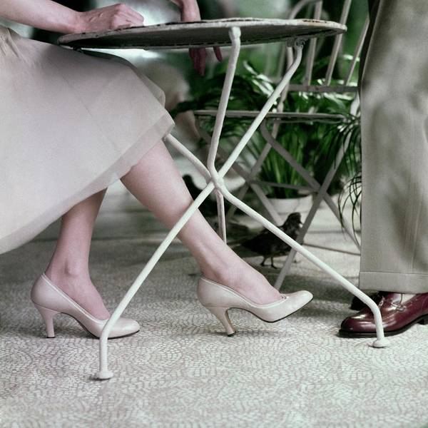 Male Body Photograph - Model's Legs And Feet Wearing Pumps by Frances McLaughlin-Gill