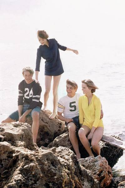 Summer Photograph - Models On A Rock by William Connors