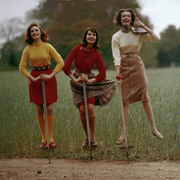 Countryside Photograph - Models On Pogo Sticks by Frances McLaughlin-Gill