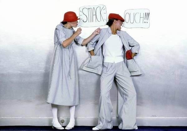 Wall Art - Photograph - Models Wearing Beene Bag Ensembles by Ishimuro