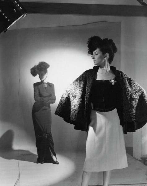 Photograph - Models Wearing Bergdorf Goodman Clothing by Cecil Beaton