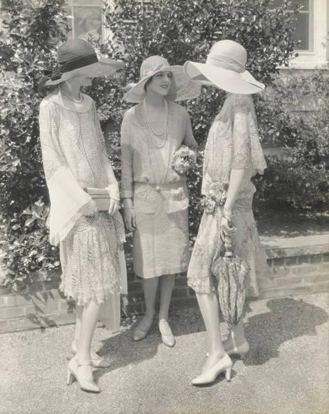 Gay Photograph - Models Wearing Chiffon Dresses by Edward Steichen
