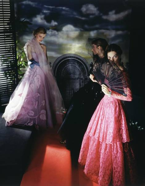 Wall Art - Photograph - Models Wearing Evening Gowns by Horst P. Horst