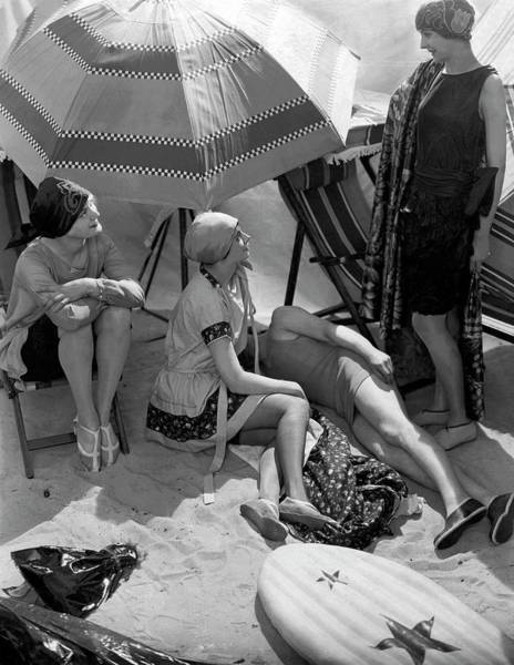 Four People Photograph - Models Wearing Hats by Edward Steichen