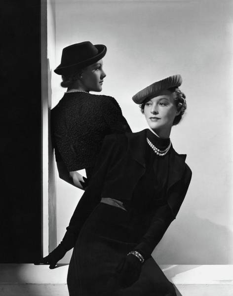 Wall Art - Photograph - Models Wearing Hats by Horst P. Horst