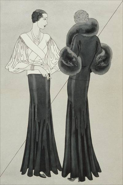 Lanvin Digital Art - Models Wearing Lanvin Suits by Douglas Pollard