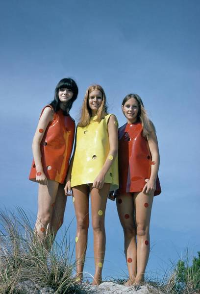 Photograph - Models Wearing Rudi Gernreich Dresses by William Connors